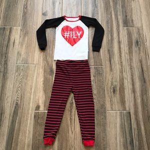 Children's Place 3T Heart Pajamas